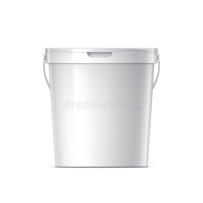 空白空白塑胶容器 皇族释放例证