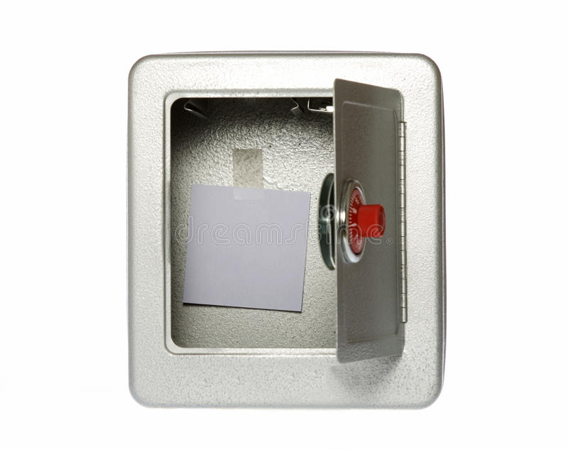 空白空的开锁的附注开放安全 免版税库存照片