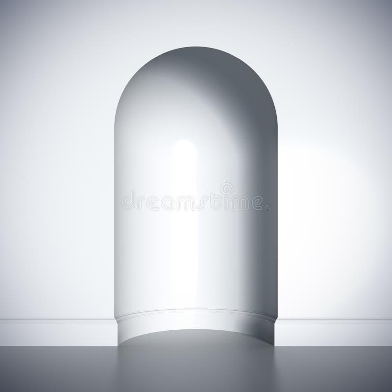 空白空的适当位置空白模板格式。 向量例证