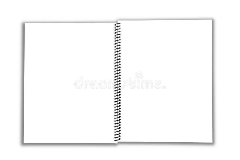 空白笔记本开放螺旋 库存图片