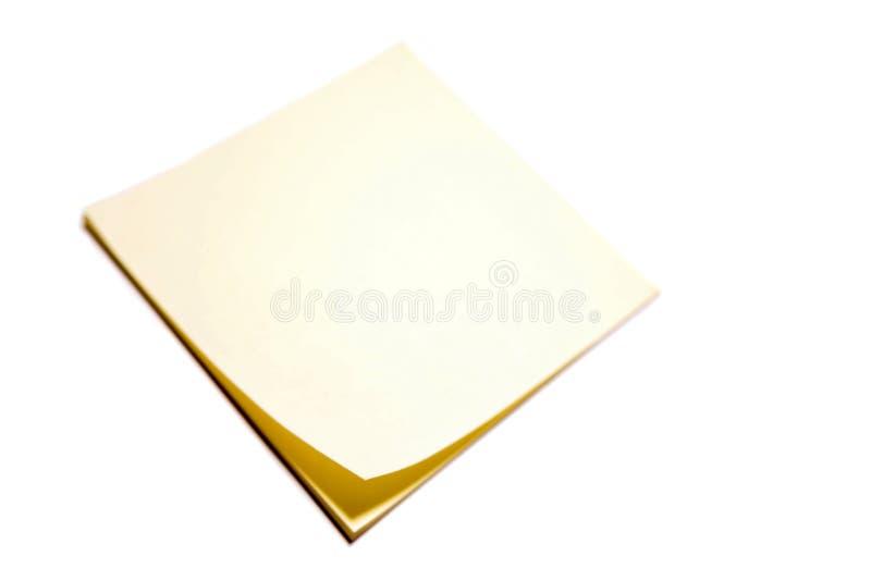 空白笔记本黄色 库存图片