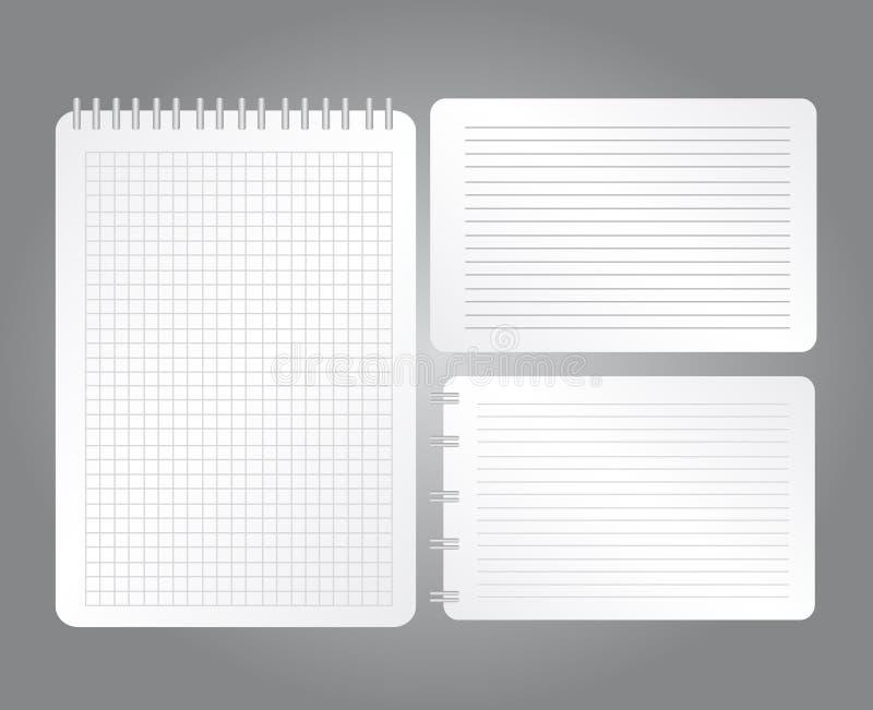 空白笔记本 库存例证