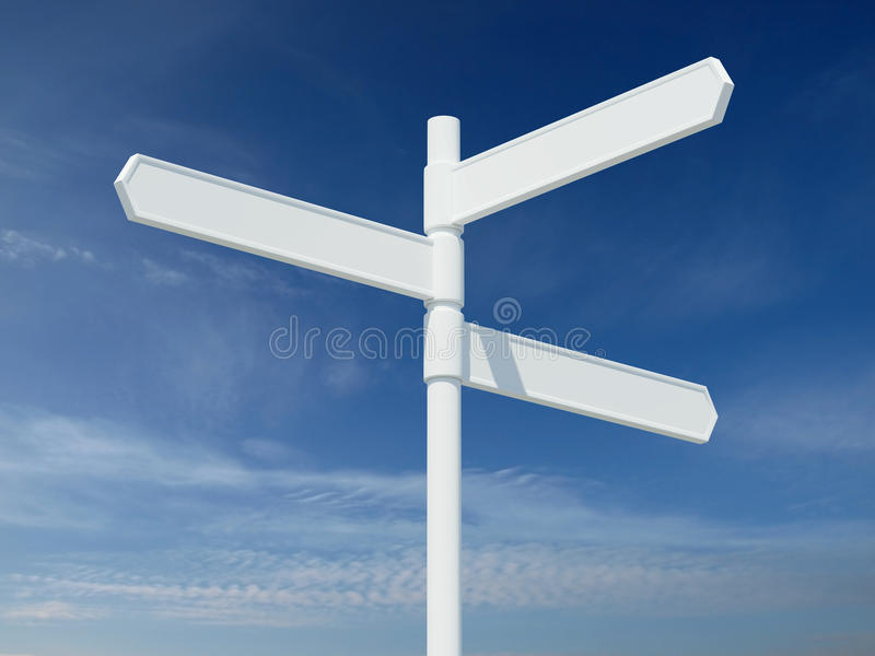 空白符号三通的白色 库存例证