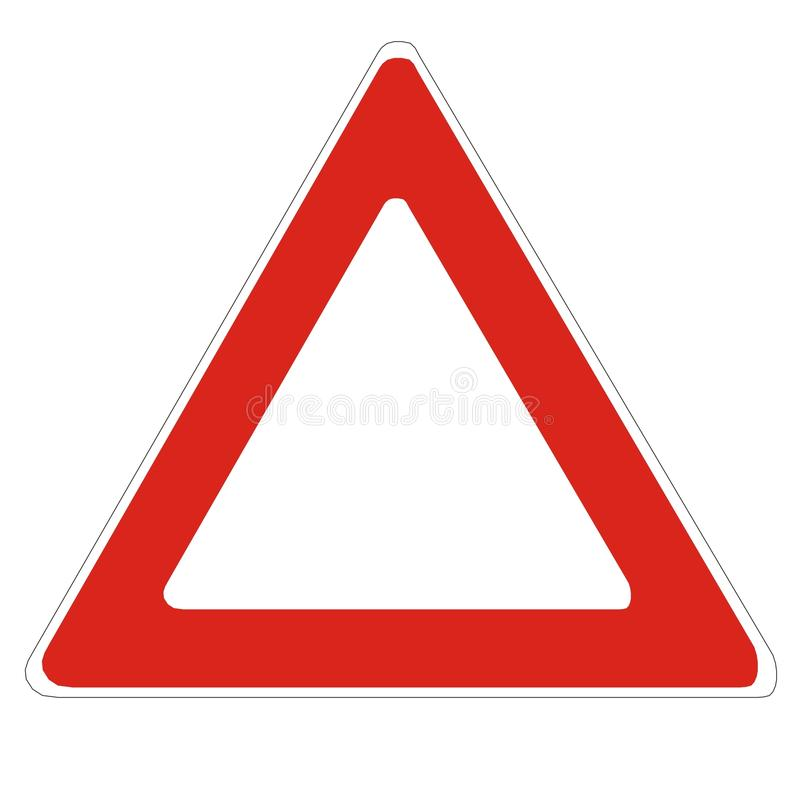 空白符号警告 库存例证