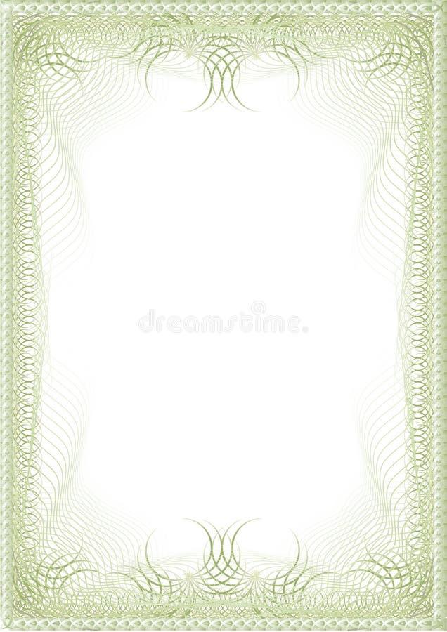 空白精华绿色 皇族释放例证