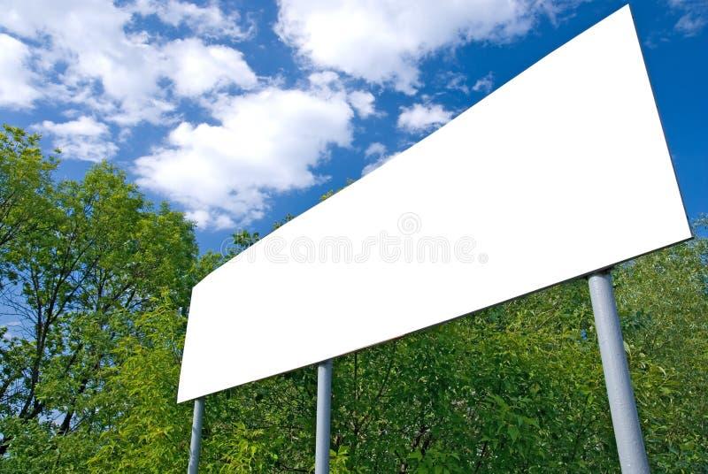 空白索引路白色 免版税库存照片