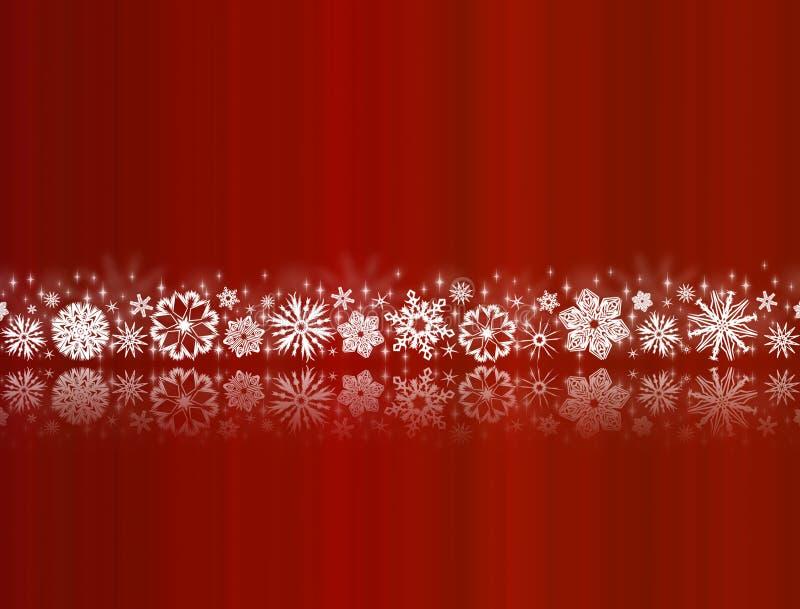 空白红色反映的雪花 皇族释放例证