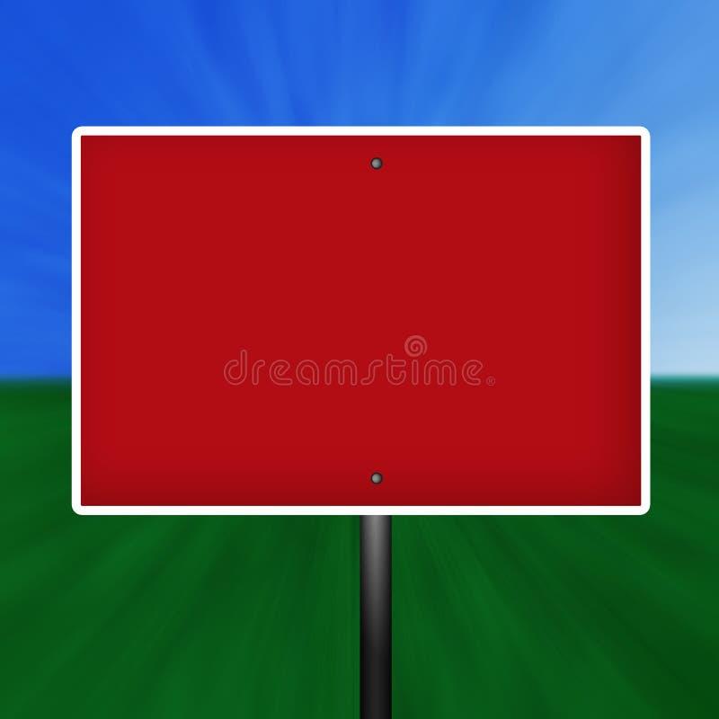 空白红色符号警告白色 库存例证