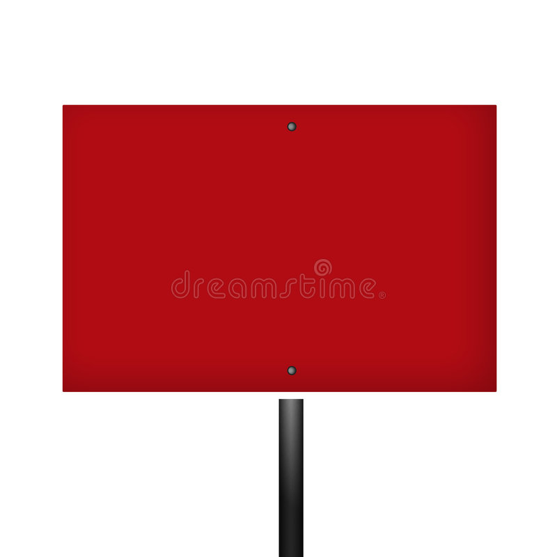 空白红色符号警告白色 向量例证