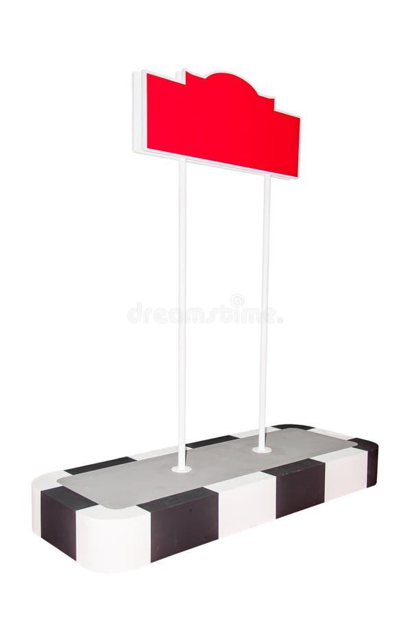 空白红色路标 向量例证
