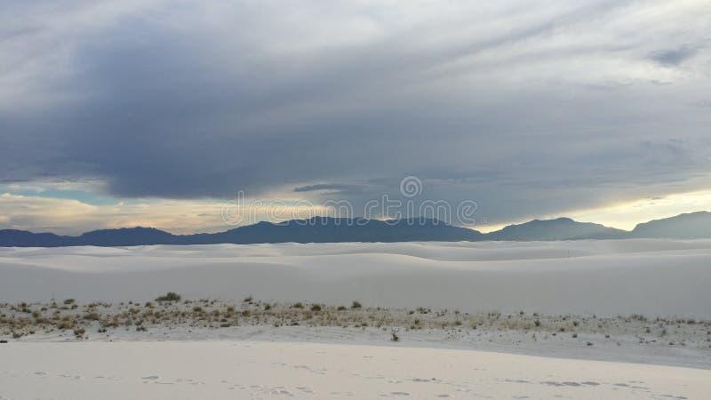 空白纪念碑国家的沙子 库存照片