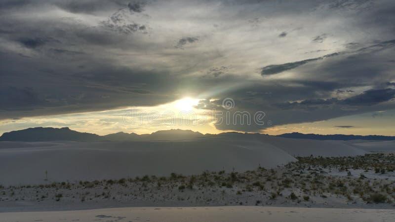 空白纪念碑国家的沙子 免版税库存图片