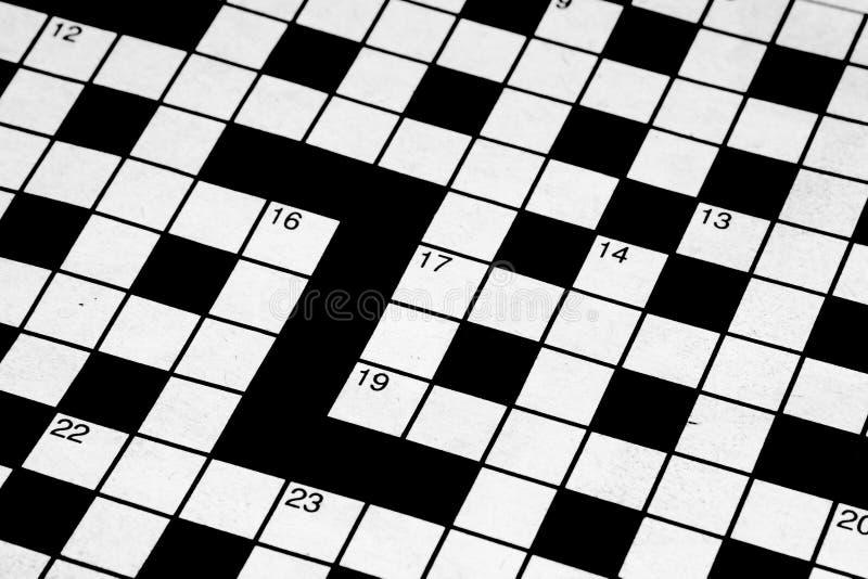 空白纵横填字谜 库存照片