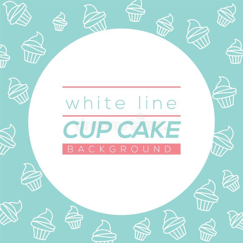 空白线路杯蛋糕背景 皇族释放例证