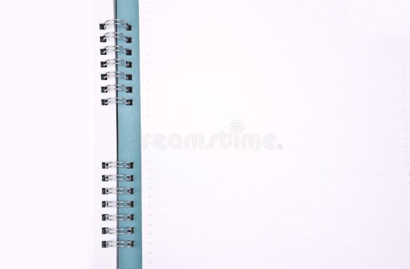 空白绿色笔记本 免版税库存照片