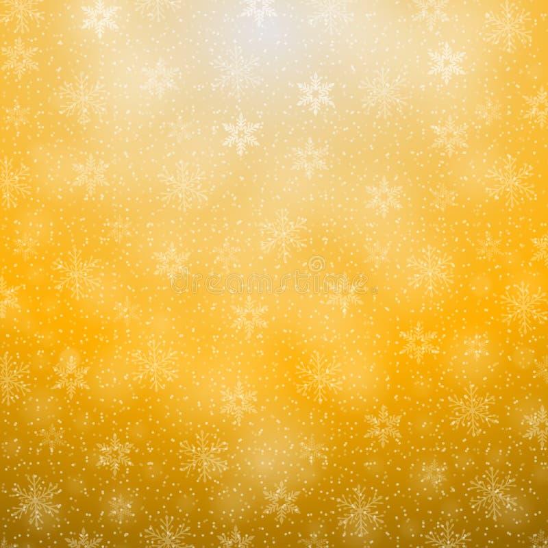 空白背景圣诞节查出的雪花 库存例证