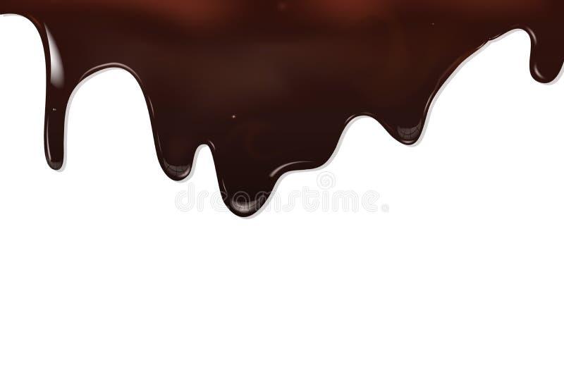 空白背景巧克力黑暗的点心的甜点 库存例证