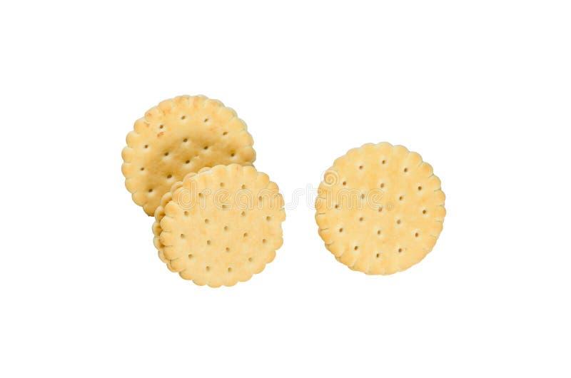 空白背景的薄脆饼干 免版税图库摄影