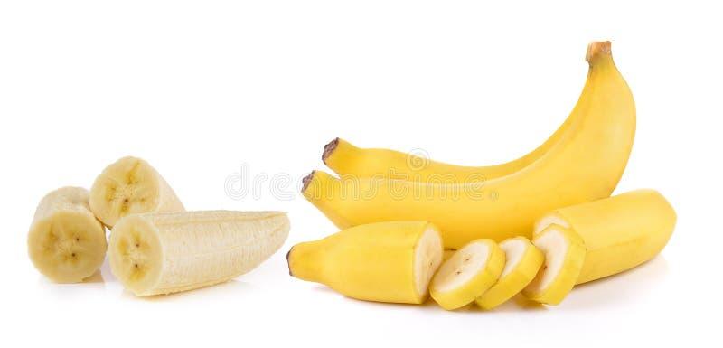 空白背景的香蕉 免版税库存照片