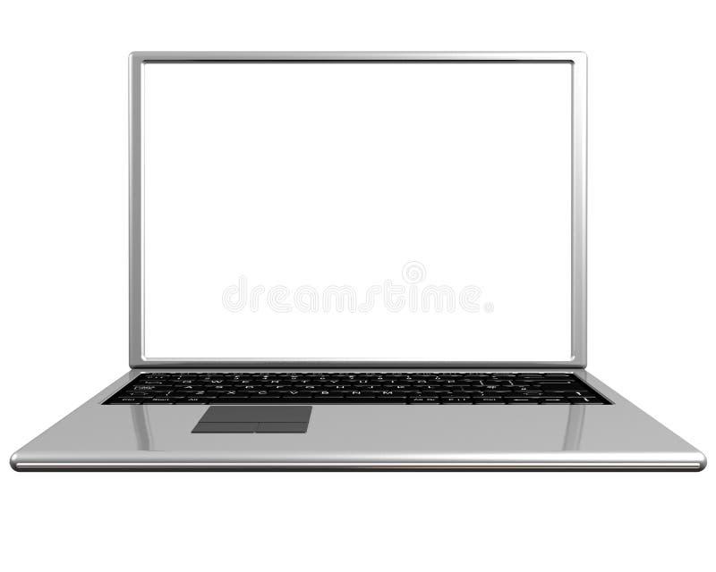 空白膝上型计算机屏幕 库存例证