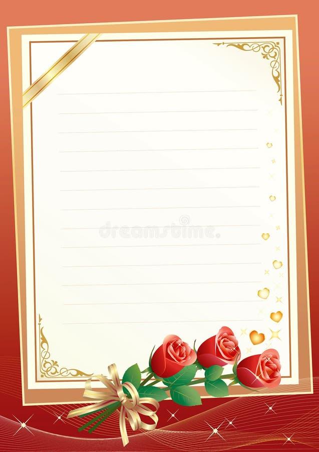 空白花饰纸张 库存例证