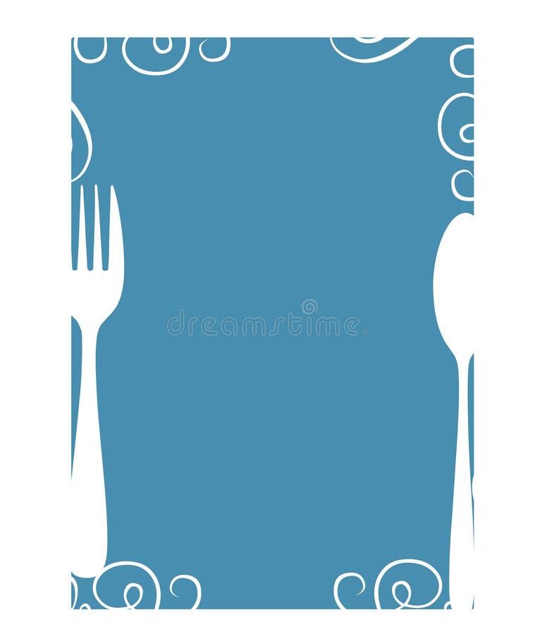 空白菜单 皇族释放例证