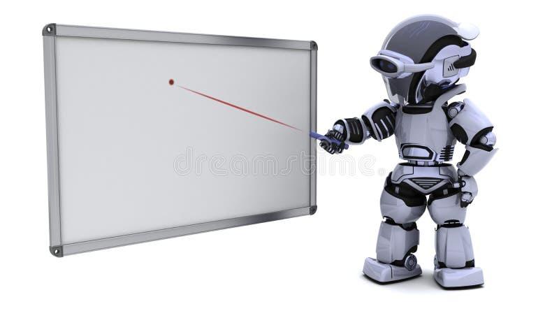 空白董事会机器人白色 皇族释放例证