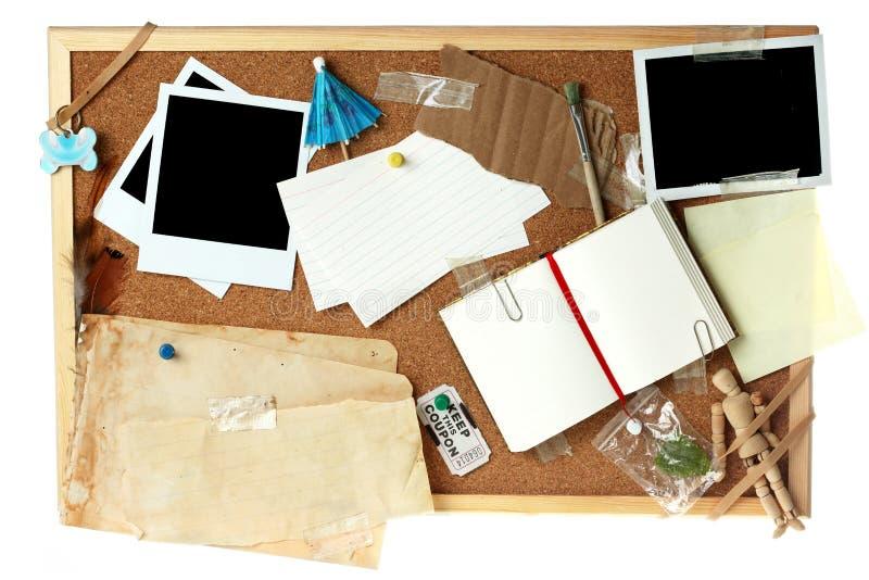 空白董事会黄柏充分的项目 免版税库存图片