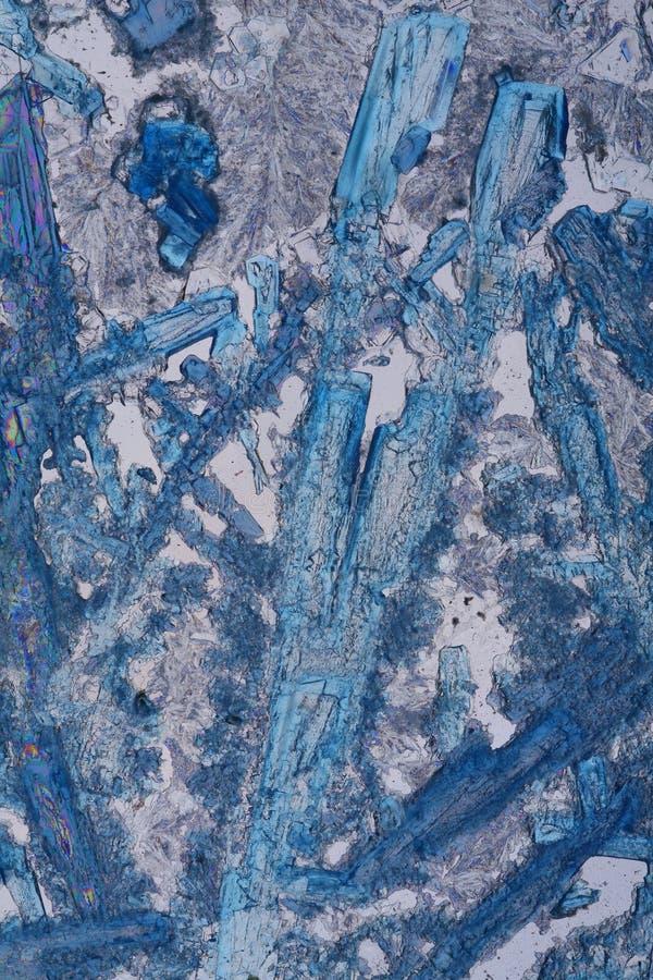 空白蓝色的水晶 免版税库存图片