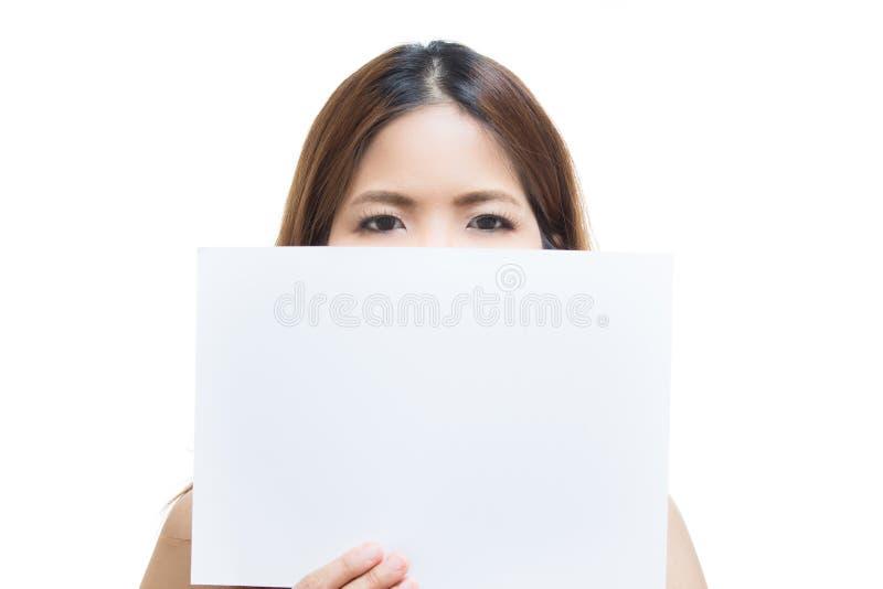空白藏品纸张妇女 图库摄影