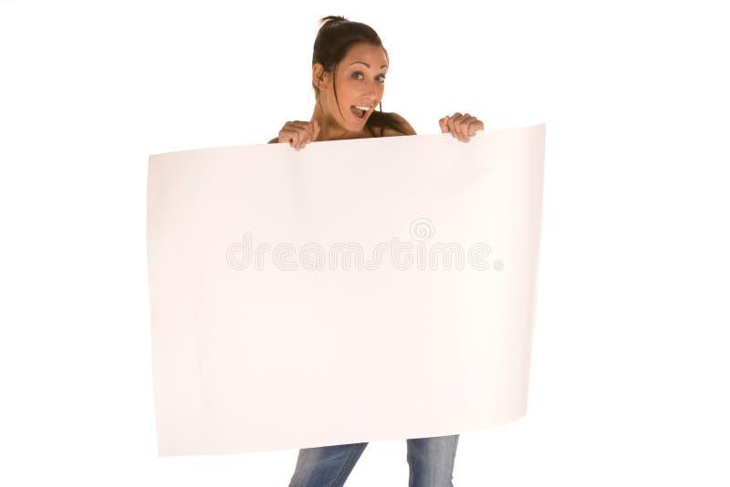 空白藏品面板妇女年轻人 免版税图库摄影