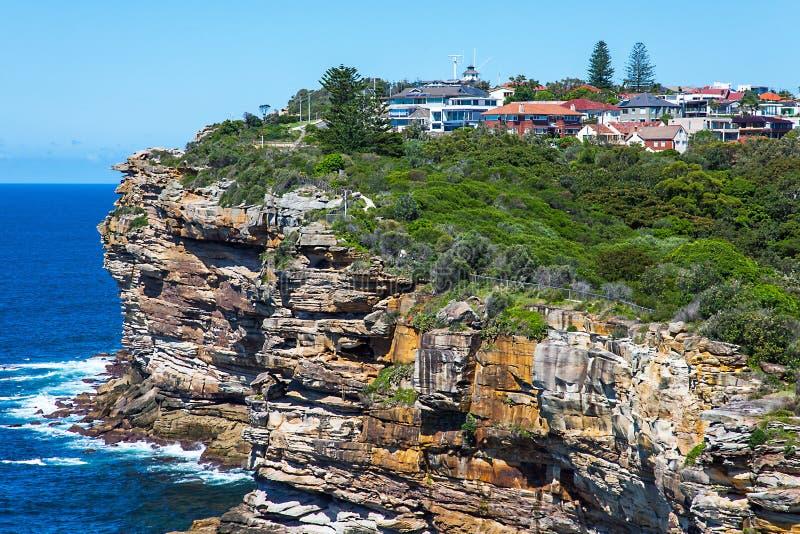 空白虚张声势港口国家公园悉尼威尔士澳大利亚 库存照片