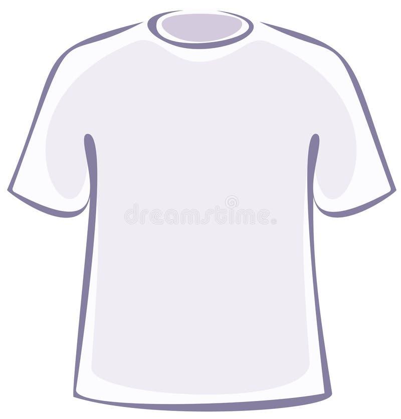 空白衬衣t向量 皇族释放例证