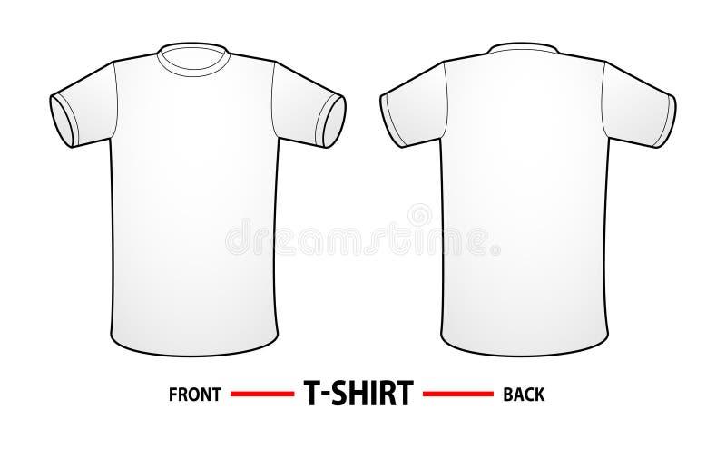 空白衬衣t模板 向量例证
