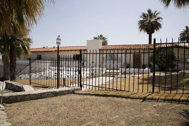 空白西班牙样式房子 库存图片