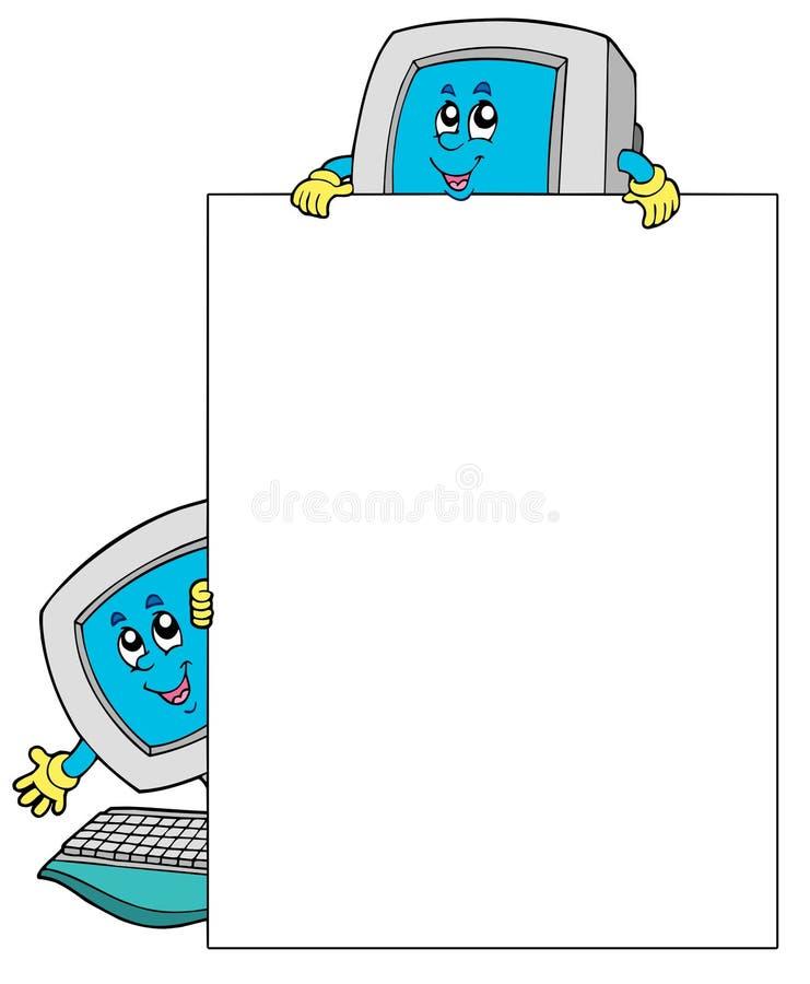 空白计算机构成二 向量例证