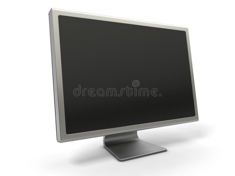 空白计算机lcd监控程序 库存例证