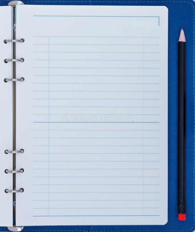 空白记事本铅笔 免版税库存图片