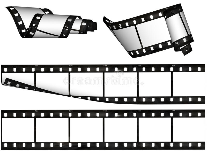 空白设计要素影片数据条 向量例证