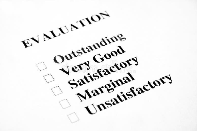 空白评估 免版税库存图片