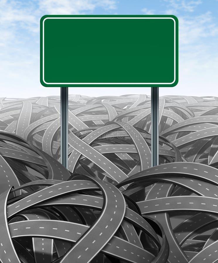 空白质询高速公路阻碍符号 向量例证