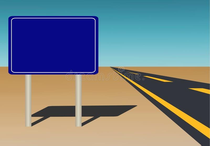 空白路标 向量例证