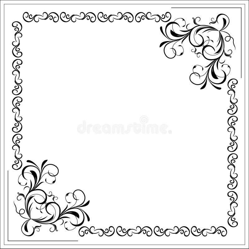 空白边界花卉框架 库存例证