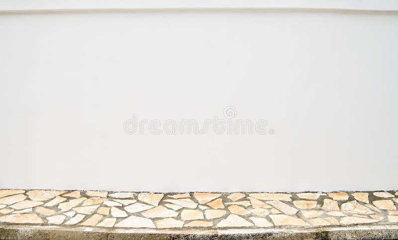空白边路墙壁 免版税库存图片