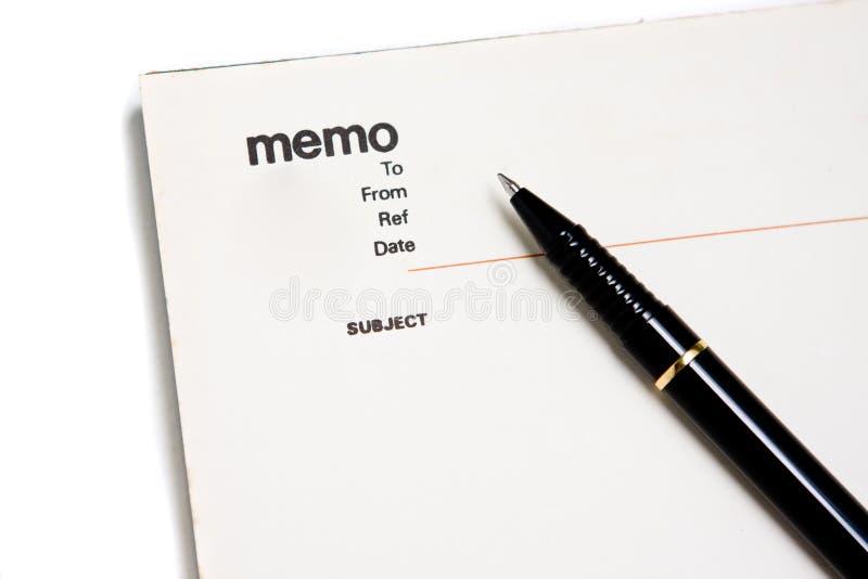 空白通知单笔记本填充 免版税图库摄影
