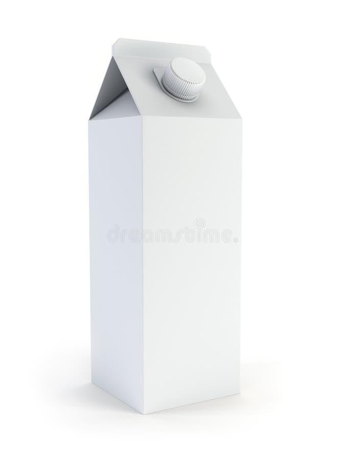 空白配件箱查出的牛奶 皇族释放例证