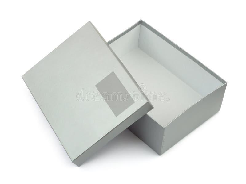空白配件箱标签开张了 免版税库存图片