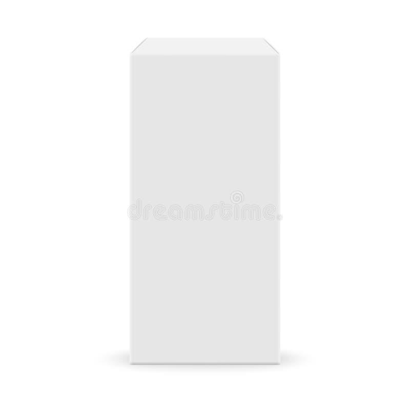空白配件箱白色 皇族释放例证