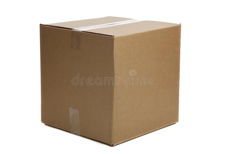 空白配件箱纸板关闭了 图库摄影