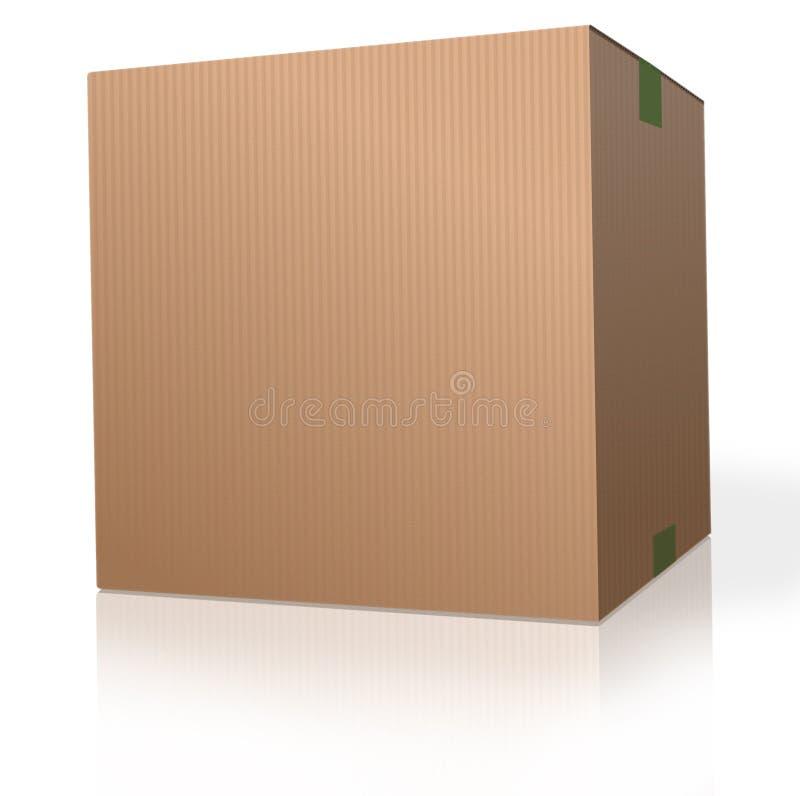 空白配件箱纸板程序包 皇族释放例证